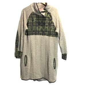 Zulily Reborn Raining Skulls Plaid Sweater Dress